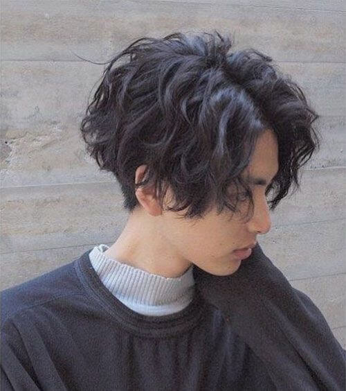 Long Messy Two Block Haircut