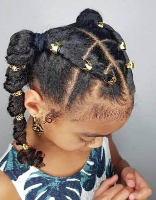 Pigtails Braids With Beads