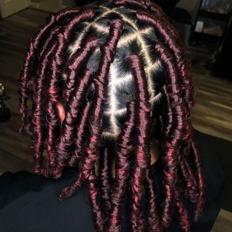 Burgundy Rolled Layers