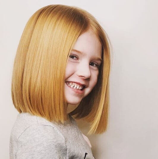 Center Parted Long Bob Hairstyle