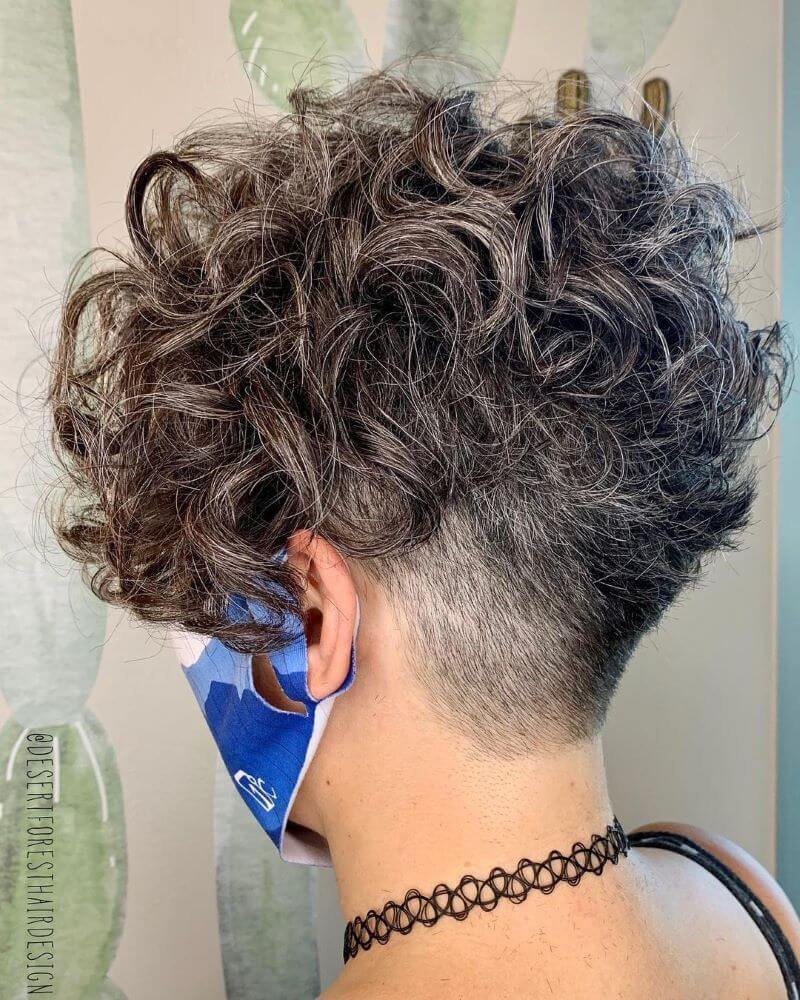 Long Curly Fringe With Undercut