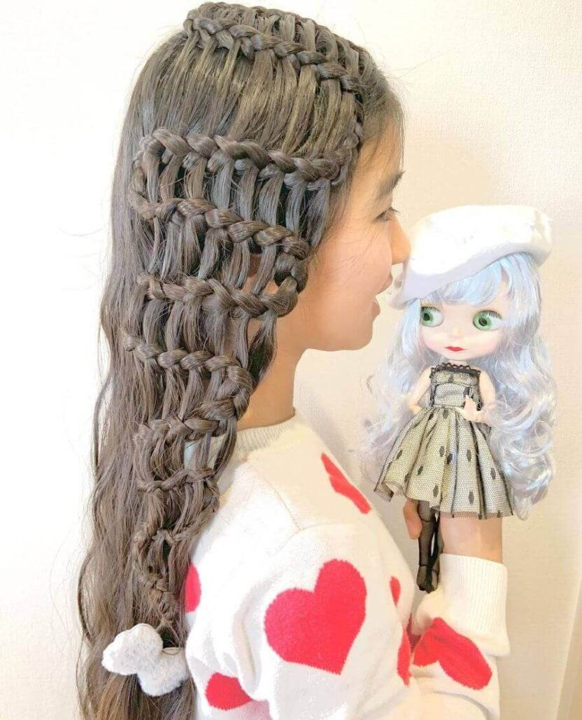 Long Hair With Pattern Braided Side