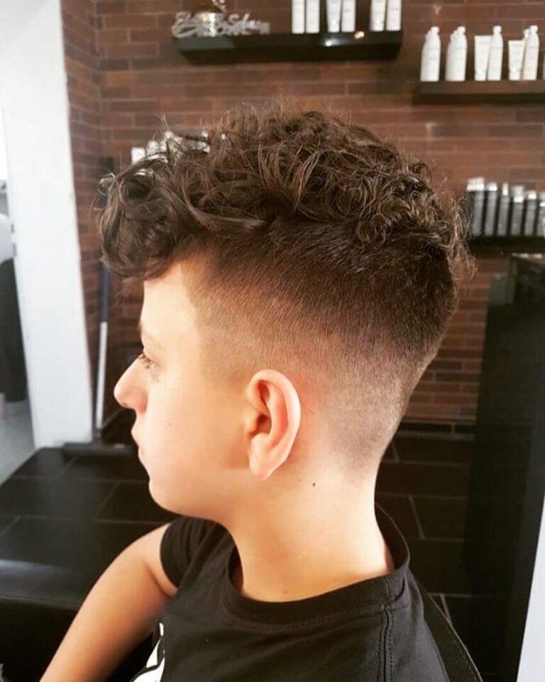 Slightly Forward Swept Curls With Undercut