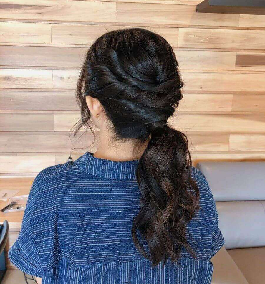 Tousled and Textured Ponytail
