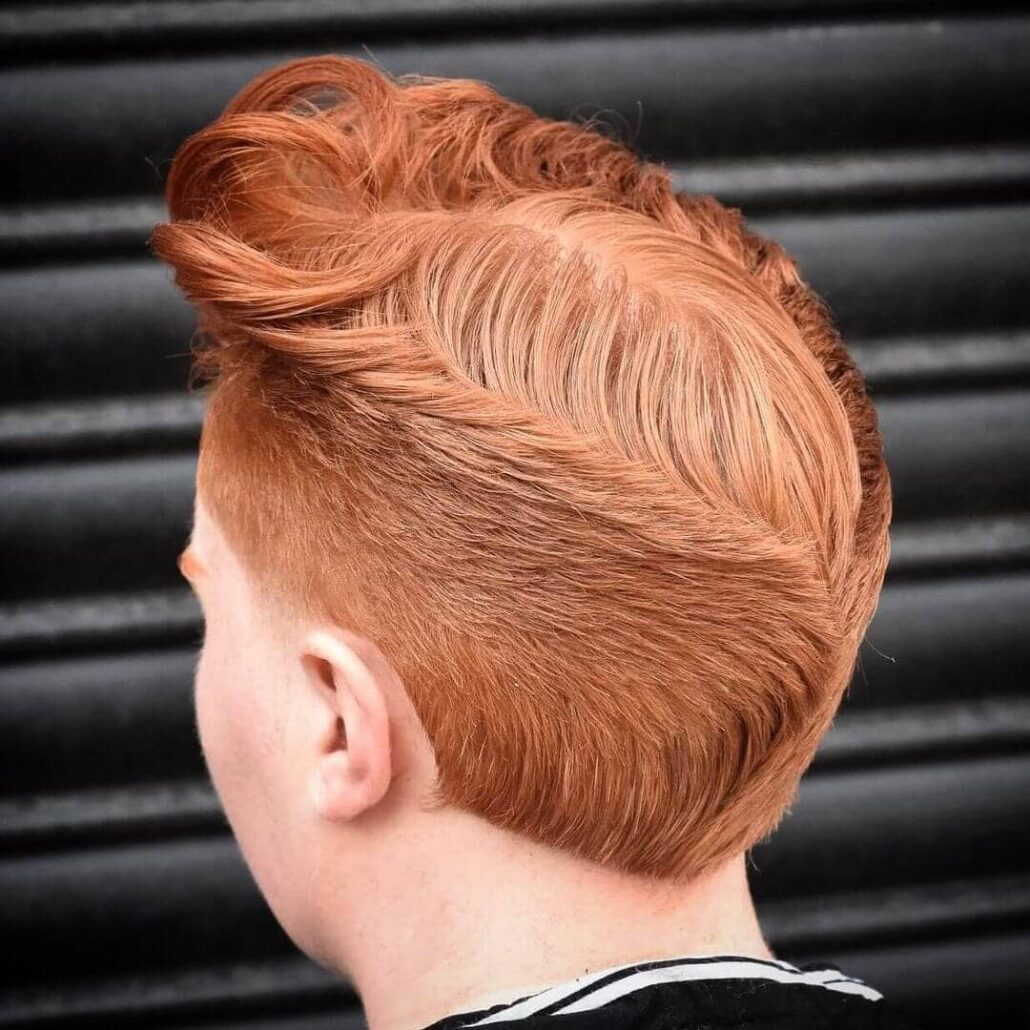 A Classic Ducktail For The Redheads