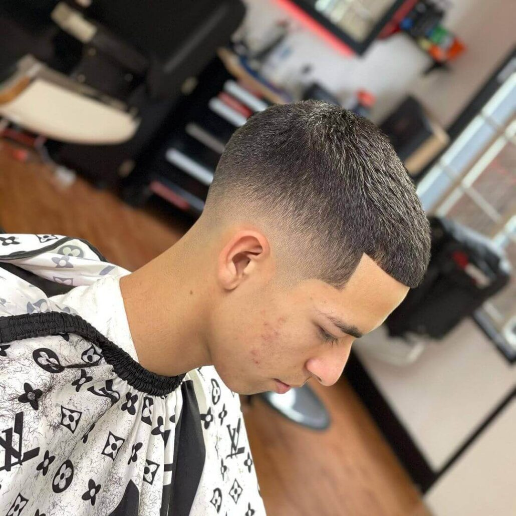 Buzz Cut With Faded Sides