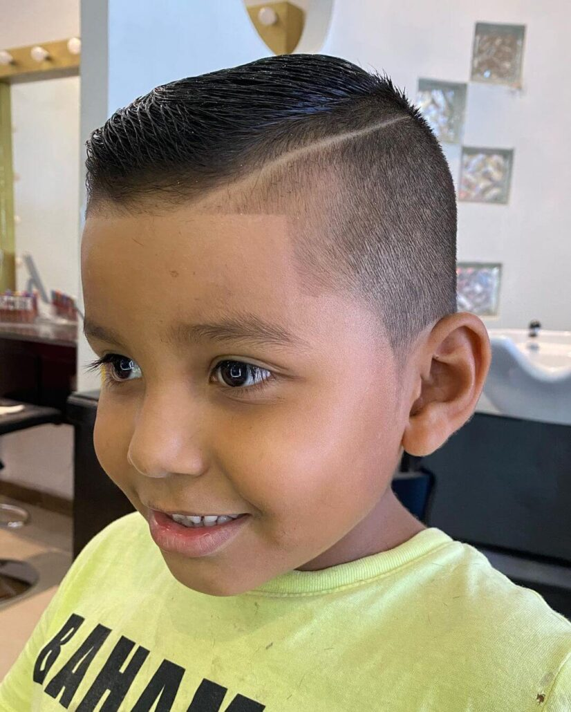 Comb Over Fade Haircut With Hard Part