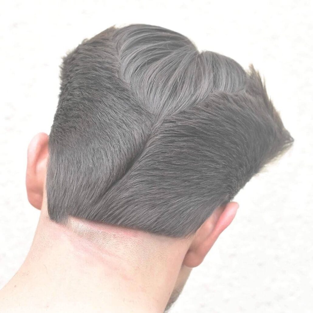 Ducktail With A Line And Razor Design
