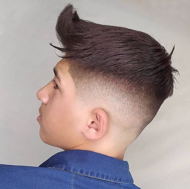 Forward Swept With Spiky Front And Faded Sides