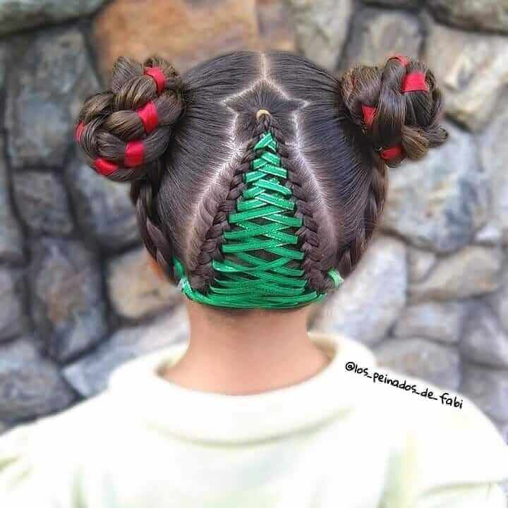 Pigtails With Braided Pattern At The Back