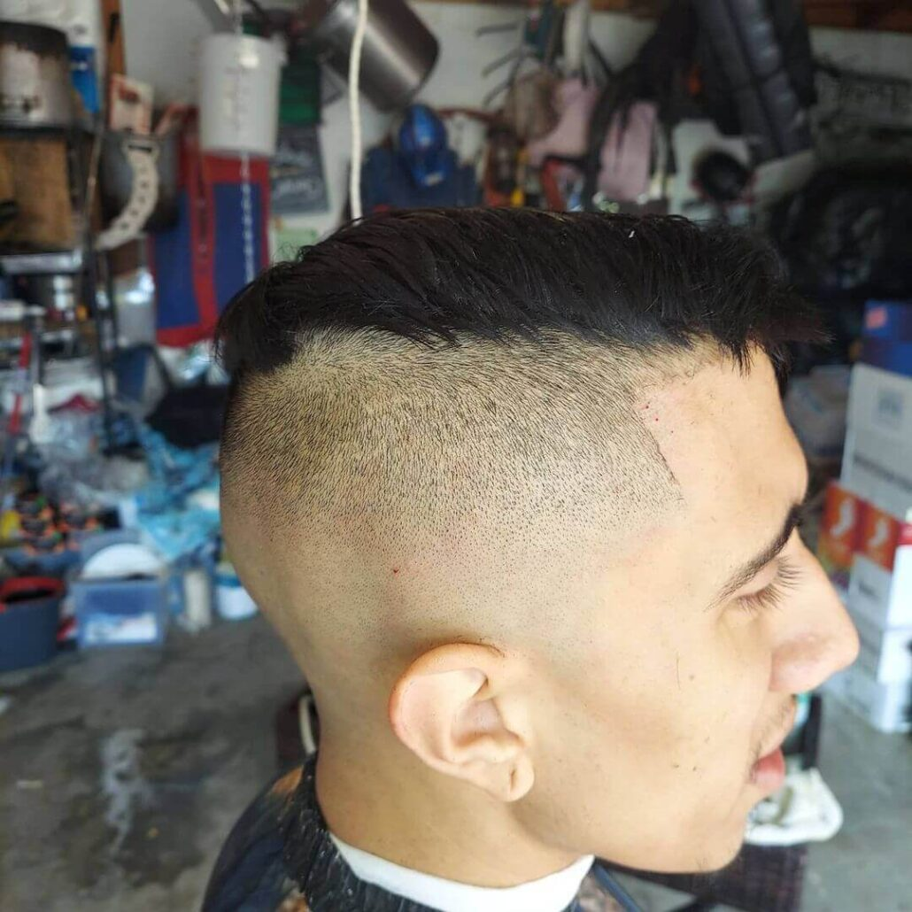 Volume On Top With Undercut Fade