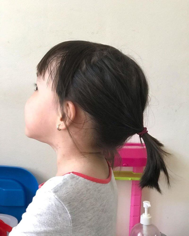 Short Ponytail Hairstyle With Bangs