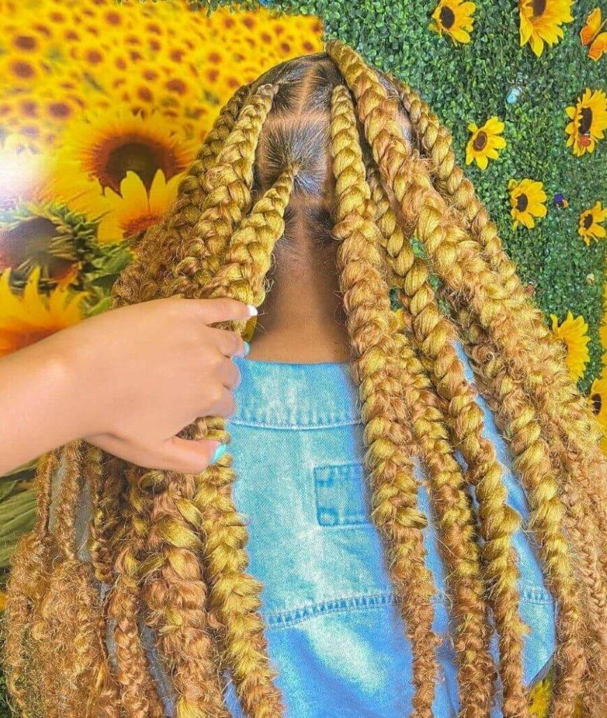 Thick Sunflower Braids