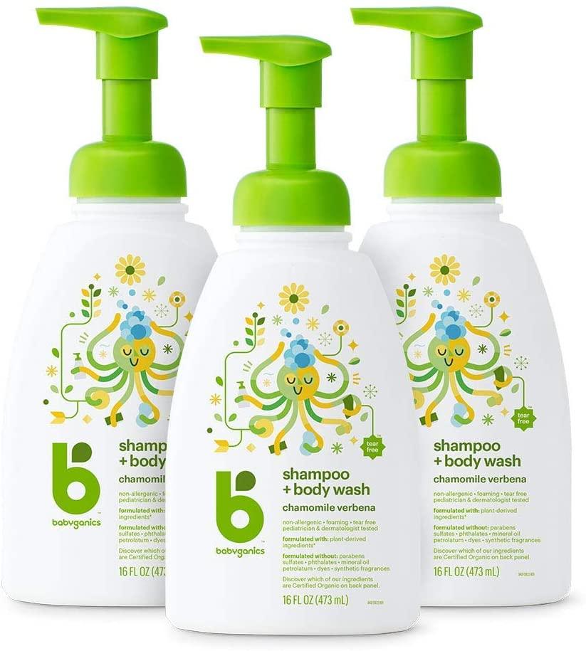 Babyganics Baby Shampoo + Body Wash Pump Bottle
