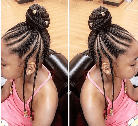 Braided Hairstyle With Bun