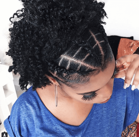 Braided Hairstyle With Grown Out Curls At The Back