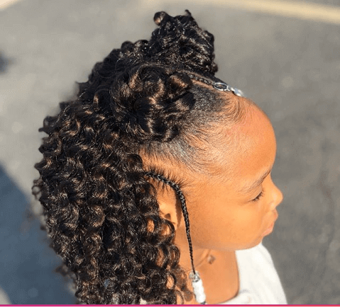 Centered Pigtails With Curly Hair