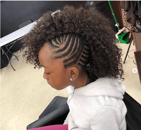 Cornrows With Mohawk Style