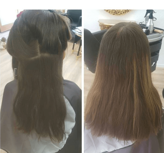 Front Combed Hairstyle With Open Back