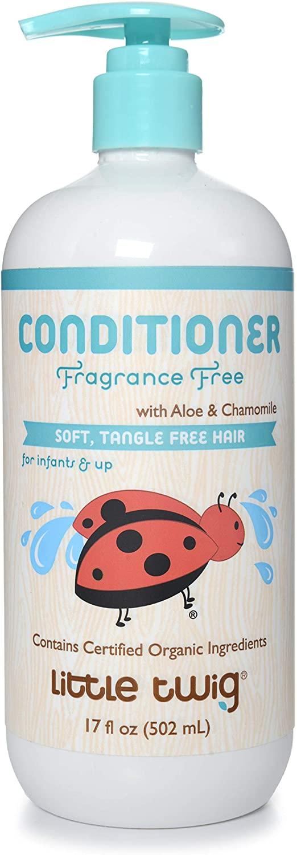 Little Twig Conditioner, Natural Plant Derived Formula, Fragrance Free, 17 fl oz