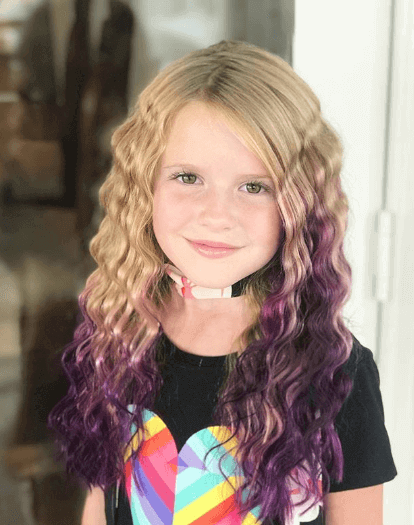 Long Curly Sides With A Tinge Of Color