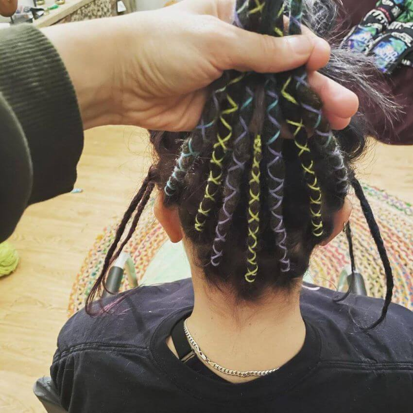 Rope Braids With Ribbon