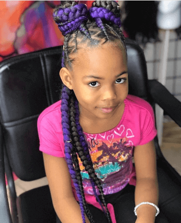 Rounded Pigtails With Braided Pony