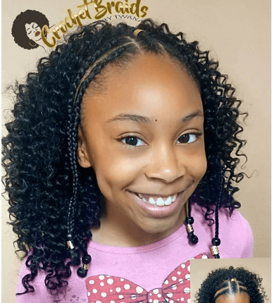 Shoulder Length Curly Hair With Nice Braids