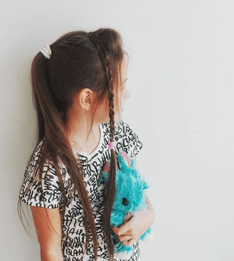Side Swept Bangs With Nice Long Braid Falling Over