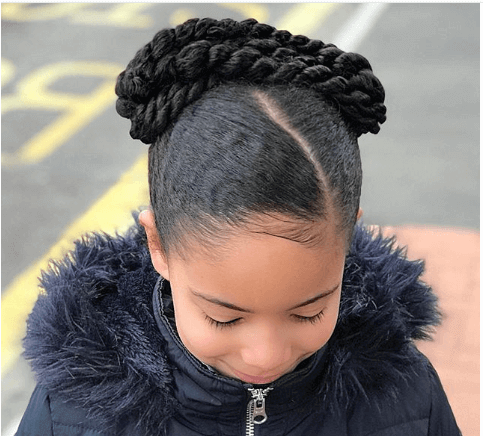 Side Swept Hair With Braided Pony