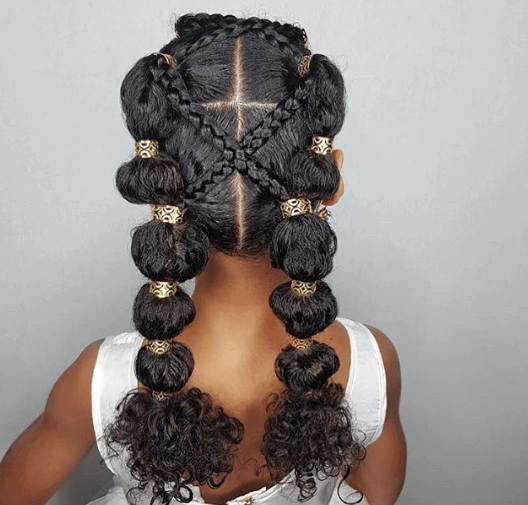 Thick Braided Hairstyle For African Hair