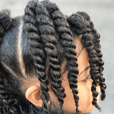 Thick Side Swept Braids