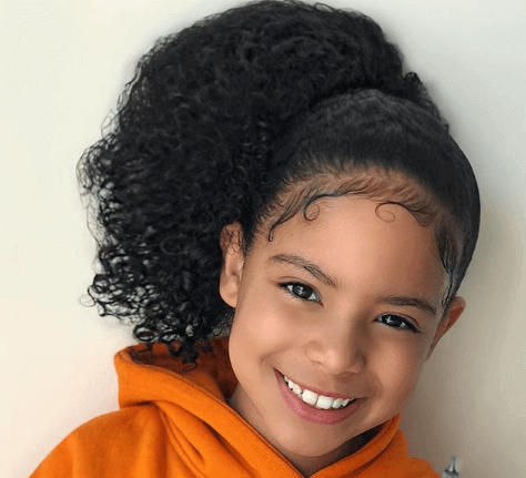 Tightly Combed Front With Voluminous Ponytail
