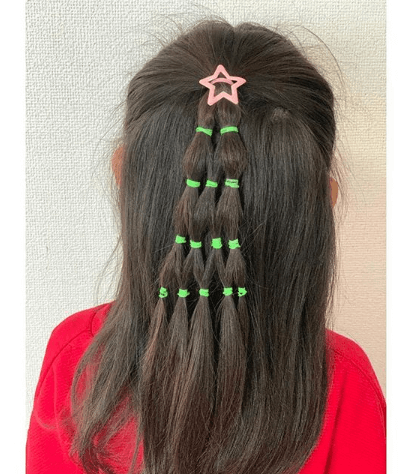 Combed Back Hairstyle With Uniquely Sectioned Ponytail