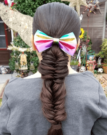 Flat Top With Thick Braided Back