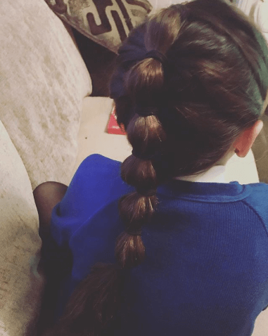 Thick Sectioned Ponytail With Combed Back Front