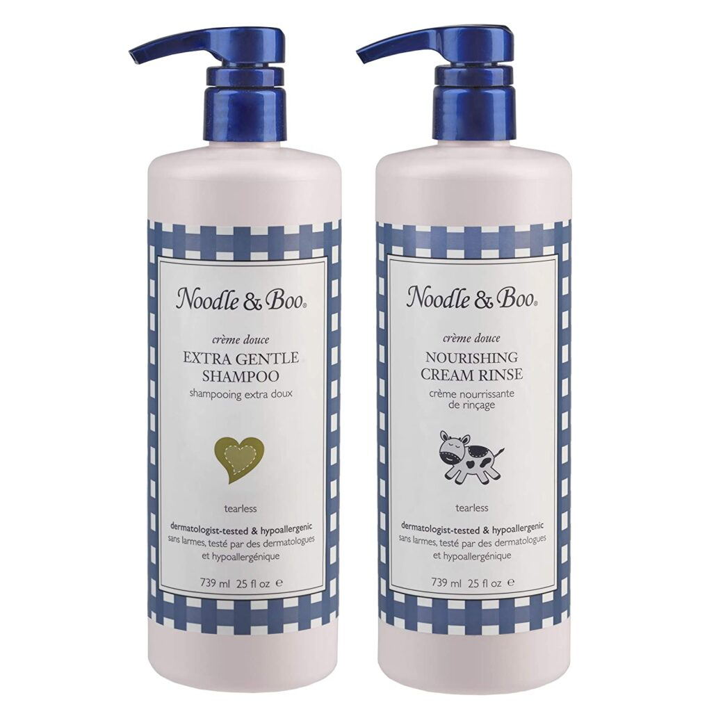 Noodle and Boo Extra Gentle Baby Shampoo With Nourishing Cream Rinse Set