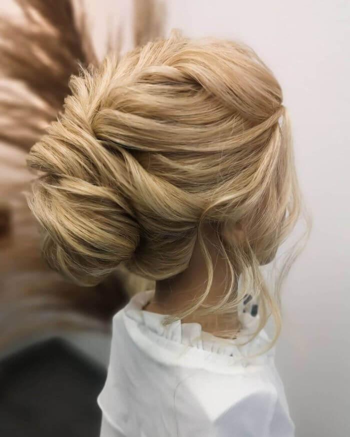 Beautiful Low Bun Hairstyle
