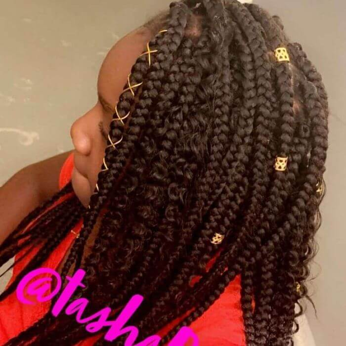 Combed Over Box Braids