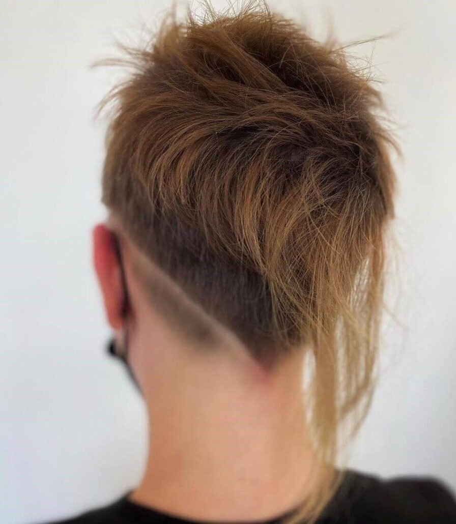 Casual Mohawk With A V-Shaped Back